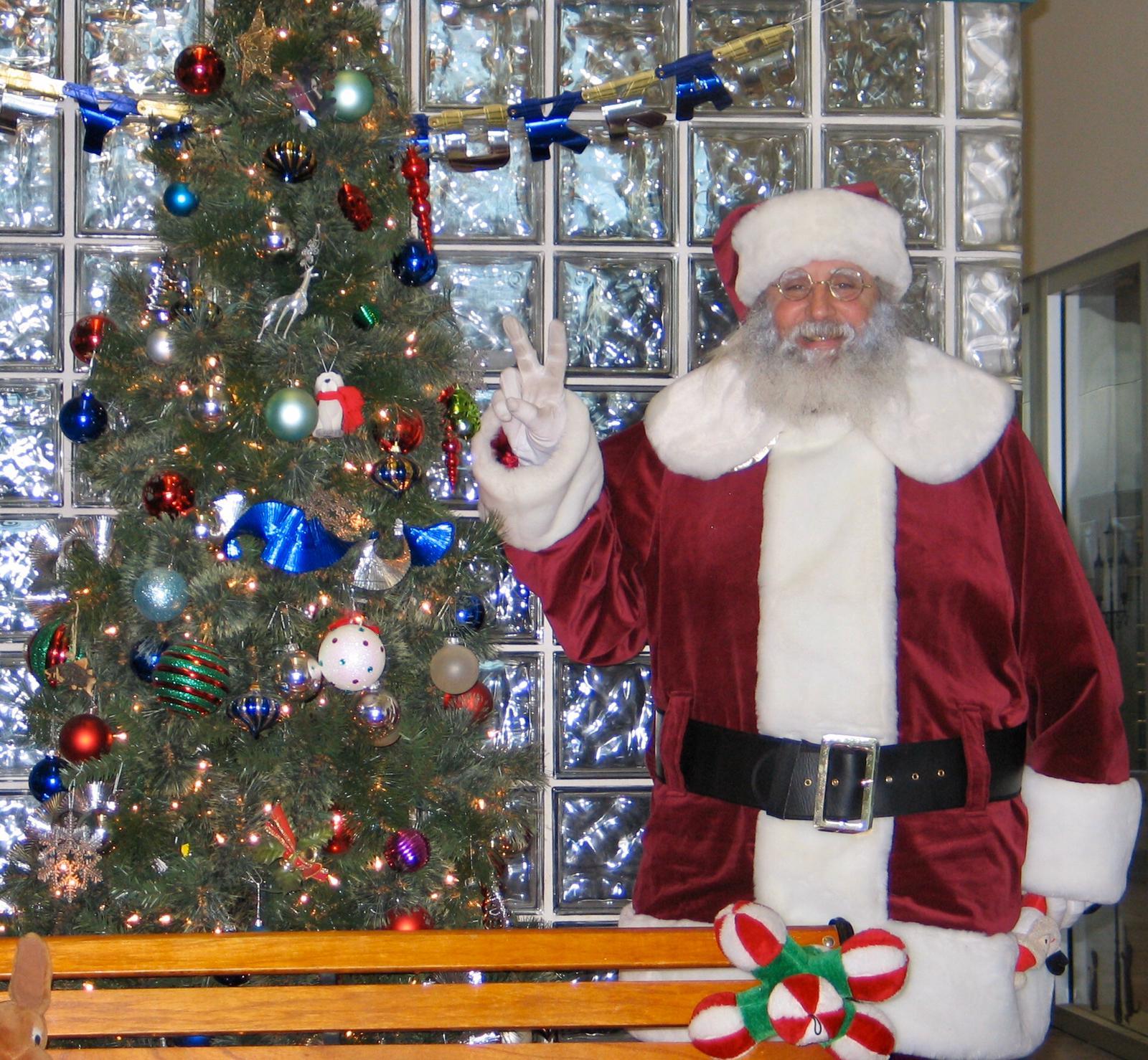 Real beard Santa Claus