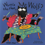 What's the Time Mr. Wolf? book cover - link to story resources page