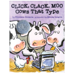 Click Clack Moo - Cows that type book cover - link to story resources page