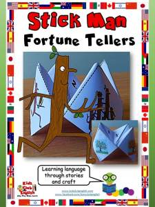 Stick Man Fortune Teller - Learn English through Stories and craft