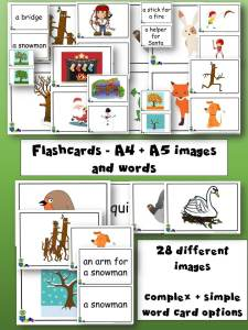 Stick Man - Flashcards, Mini-cards and Matching cards - Learn English through Stories and Craft