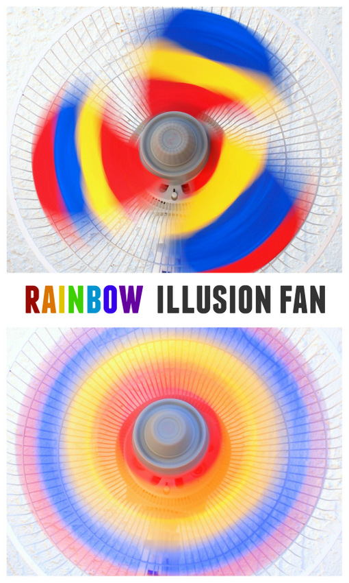 rainbow illusion fan