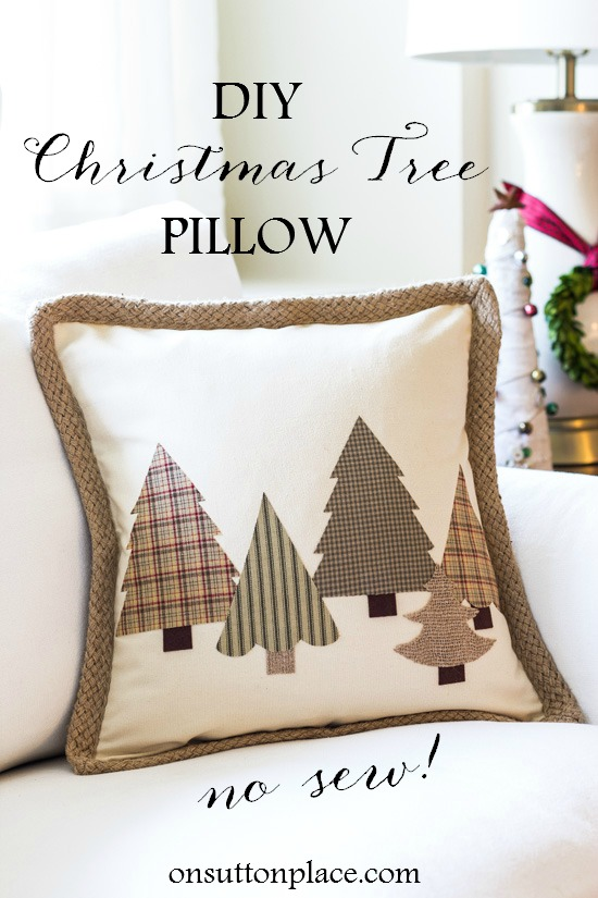 No Sew Christmas Pillow
