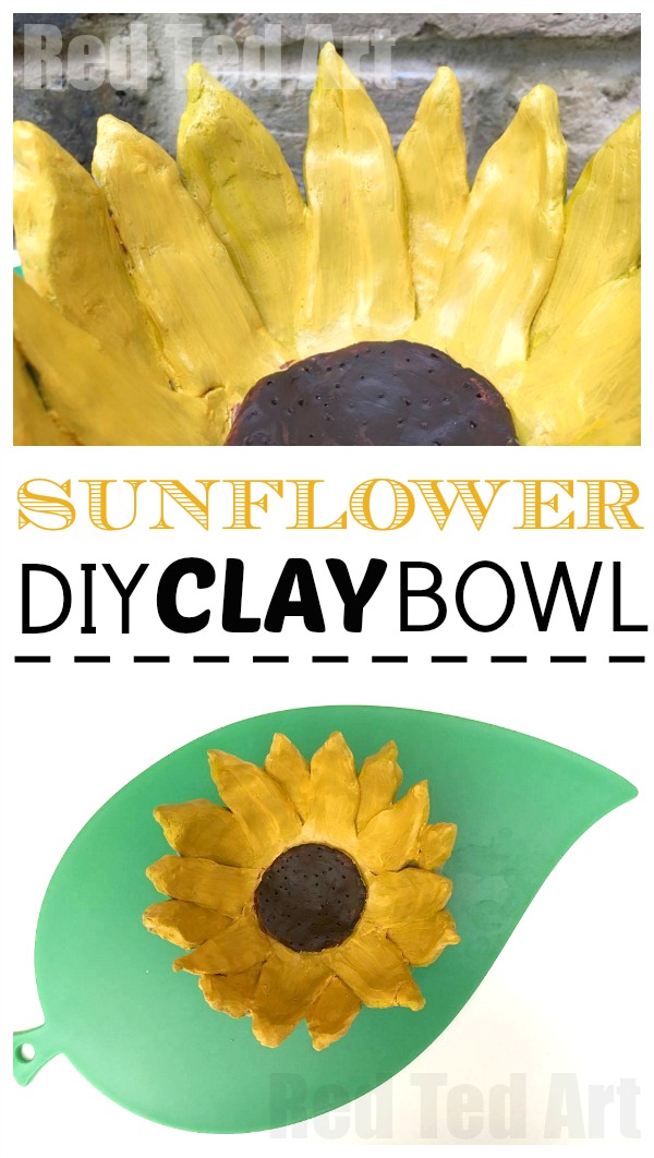 Easy Sunflower Clay Bowl