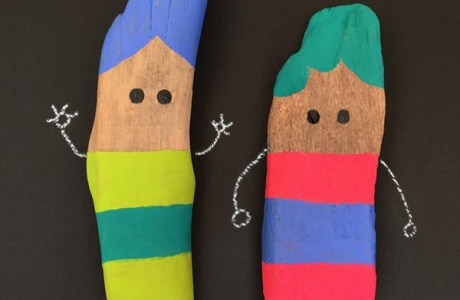 Stick Painting for Imaginative play