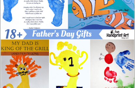 Father's Day Foot And Hand Print Projects