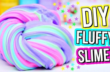 DIY Fluffy Rainbow Slime Video