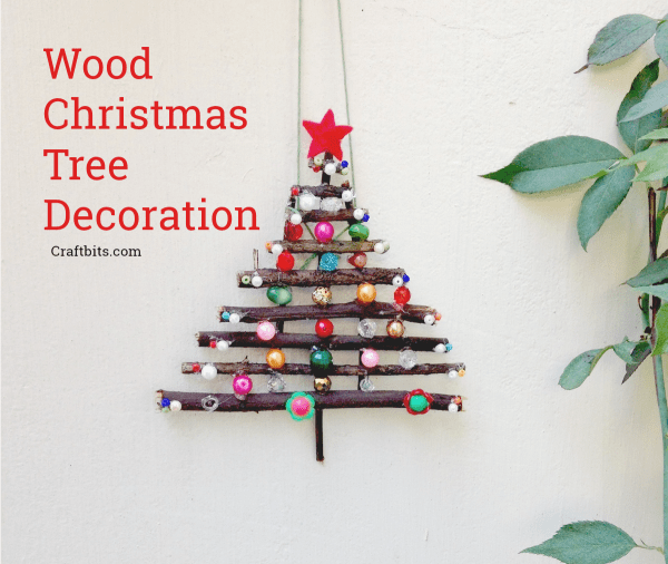 Recycled Wood Christmas Tree Decoration
