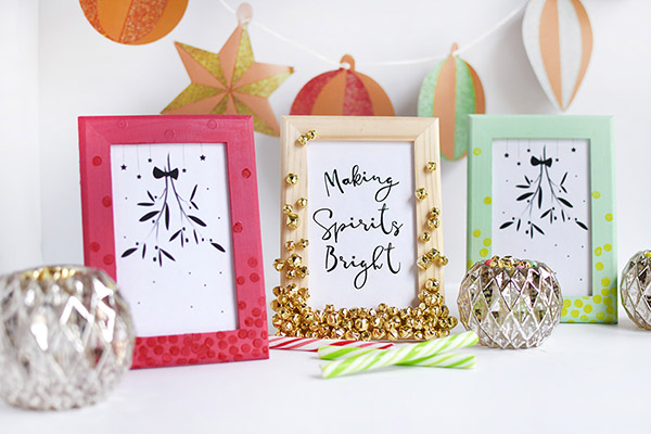 Cute DIY Gift Idea – Jingle Bell Frames