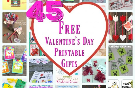 45 Printable Valentine's Day Gifts