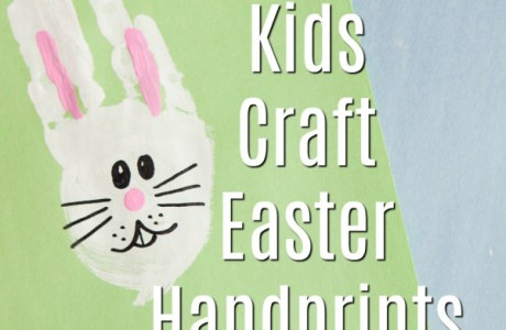 Kids Craft – Easter Bunny Handprints