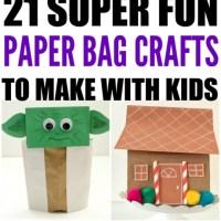 20 Paper Bag Crafts For Kids