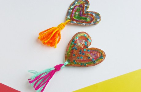 Kids Craft – Cardboard Art Hearts