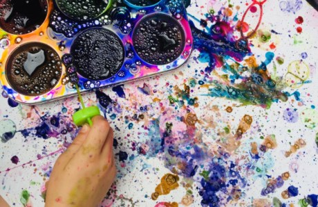 Bubble Painting: Fun Summer Activity for Kids