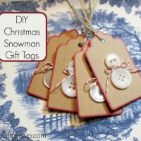 Christmas Gift Tags - Button Snowman