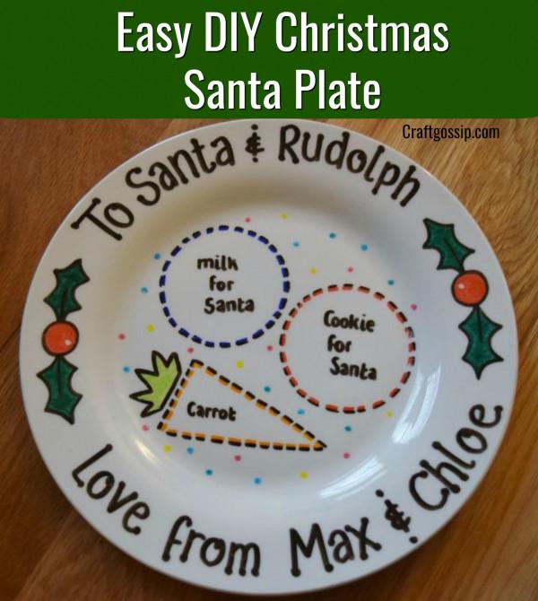 Diy Santa Plate With Sharpie Pens