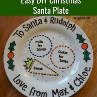 DIY Santa Plate With Sharpie Pens