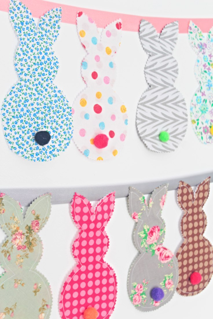 DIY Fabric Bunny Banner