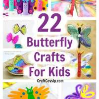 22 Butterfly Crafts For Kids