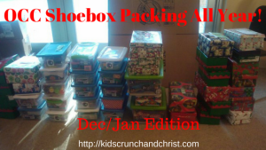 OCC, Operation Christmas Child, Shoebox Packing