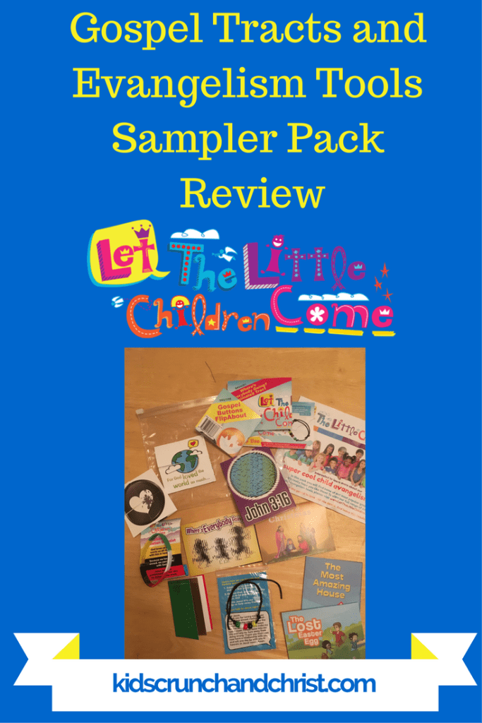 Gospel Tracts and Evangelism Tools Sampler Pack child evangelism tools from Let The Little Children Come