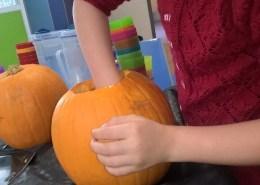 Making Pumpkin Lanterns at Dawn Til Dusk Holiday Club