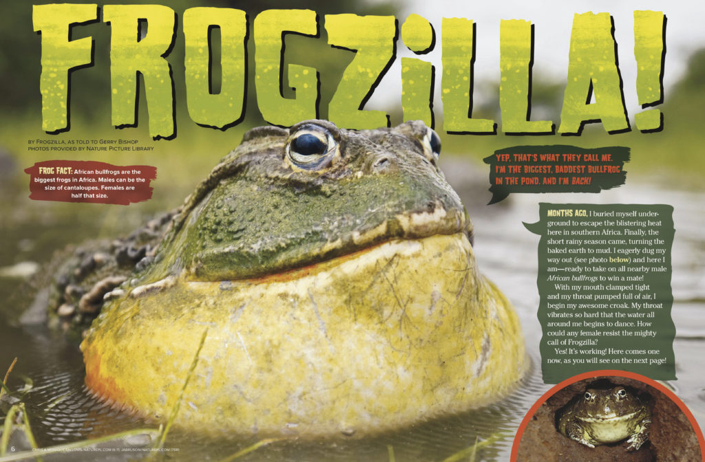 Frogzilla Ranger Rick March 2018 1