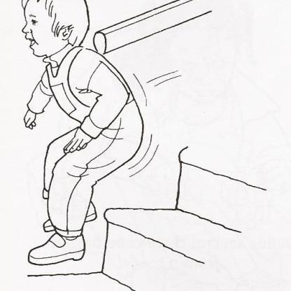 Πηδάει από σκάλα