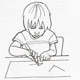Κρατάει μολύβι