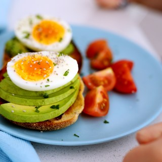 avocado + eggs + english muffins