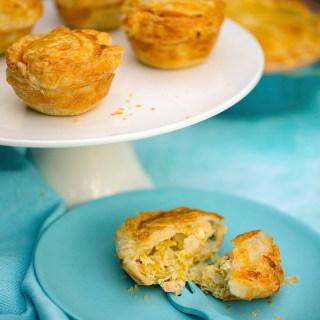 salmon, leek & potato pies