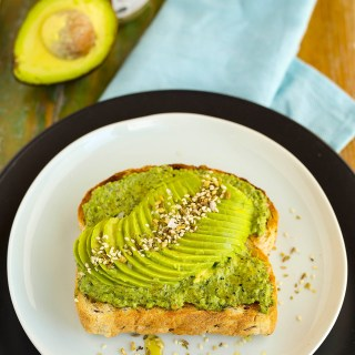 avocado, pesto & dukkah on toast
