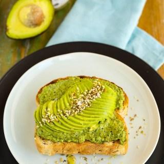 avocado, pesto & dukkah on toast