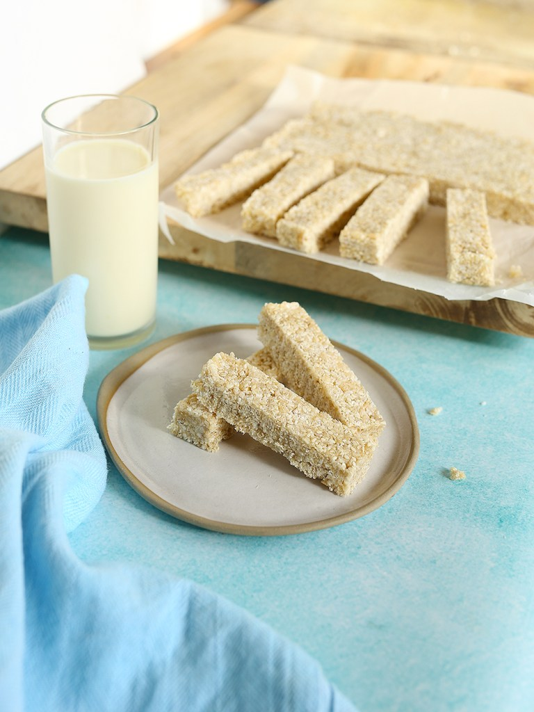 Sesame Coconut Bars Kids Eat by Shanai