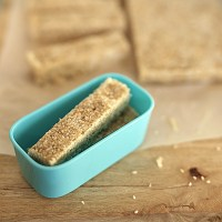 Sesame Coconut Bars for lunchbox Kids Eat by Shanai