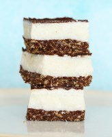 Raw Peppermint Slice refined sugar free and dairy free by Kids Eat by Shanai