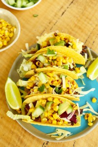 leftover roast beef tacos with grilled corn and pickled beetroot