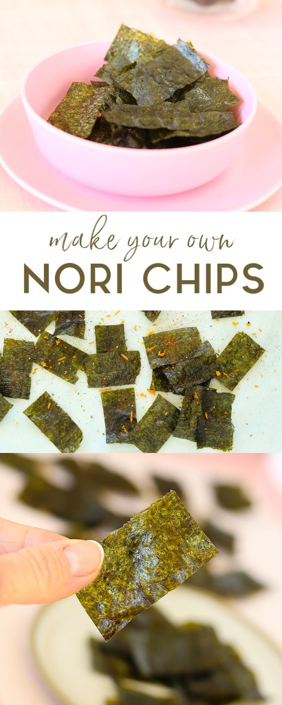 make your own Nori Chips with just seaweed sheets, soy sauce and sesame oil | Kids Eat by Shanai