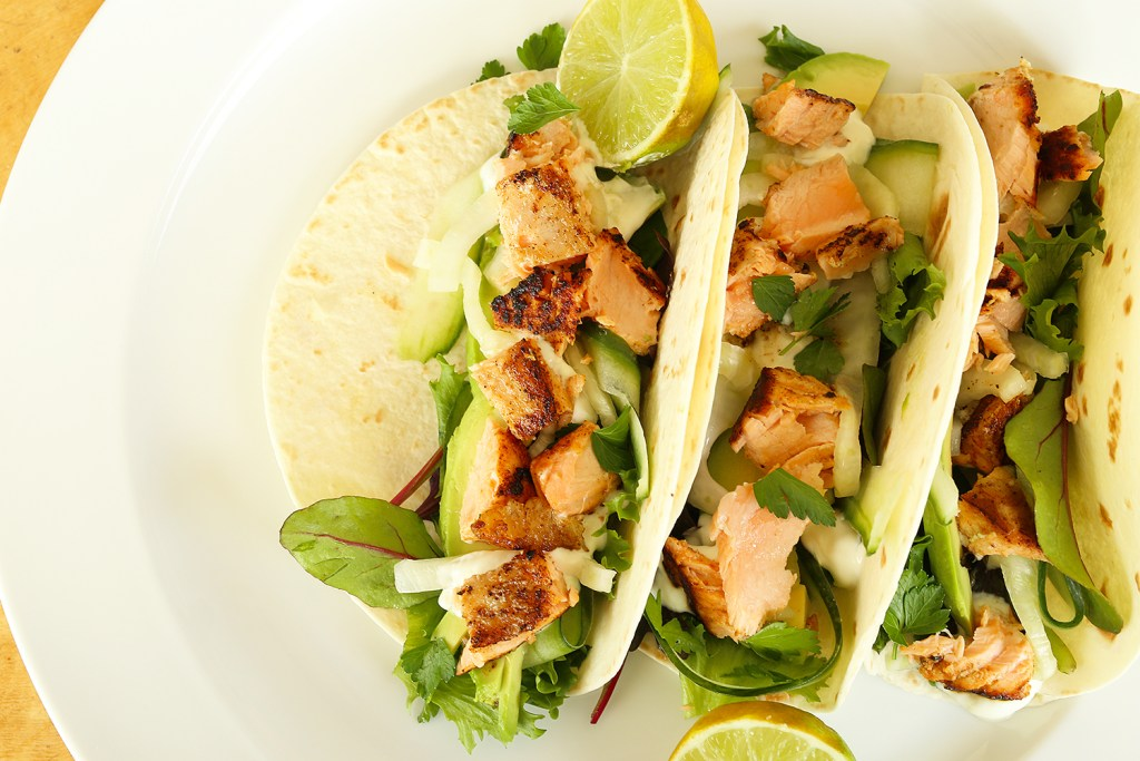 salmon pickled fennel tacos Kids Eat by Shanai