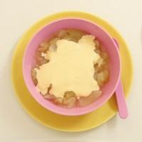 sugarfree custard and apple puree Kids Eat by Shanai