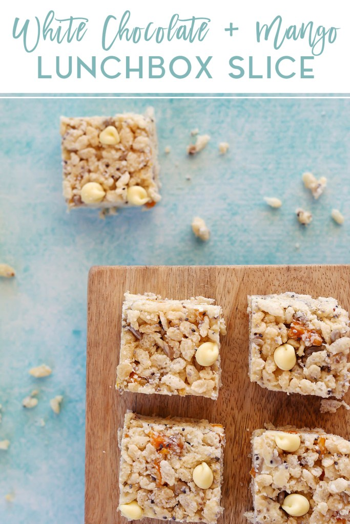 White Chocolate and Mango Lunchbox Slice | Kids Eat by Shanai
