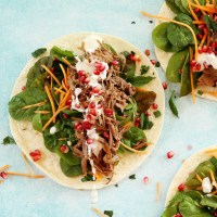 leftover roast lamb moroccan style wraps