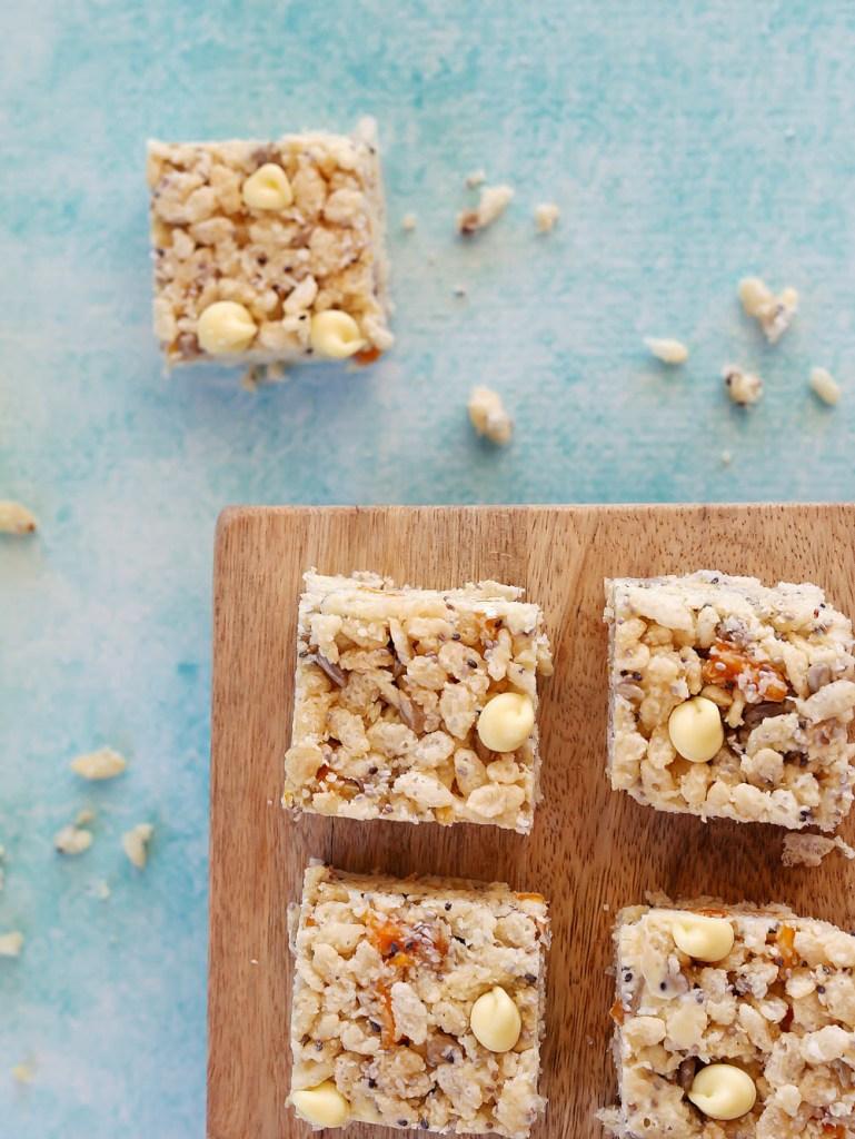 White Chocolate and Mango Luncbox Slice | Kids Eat by Shanai