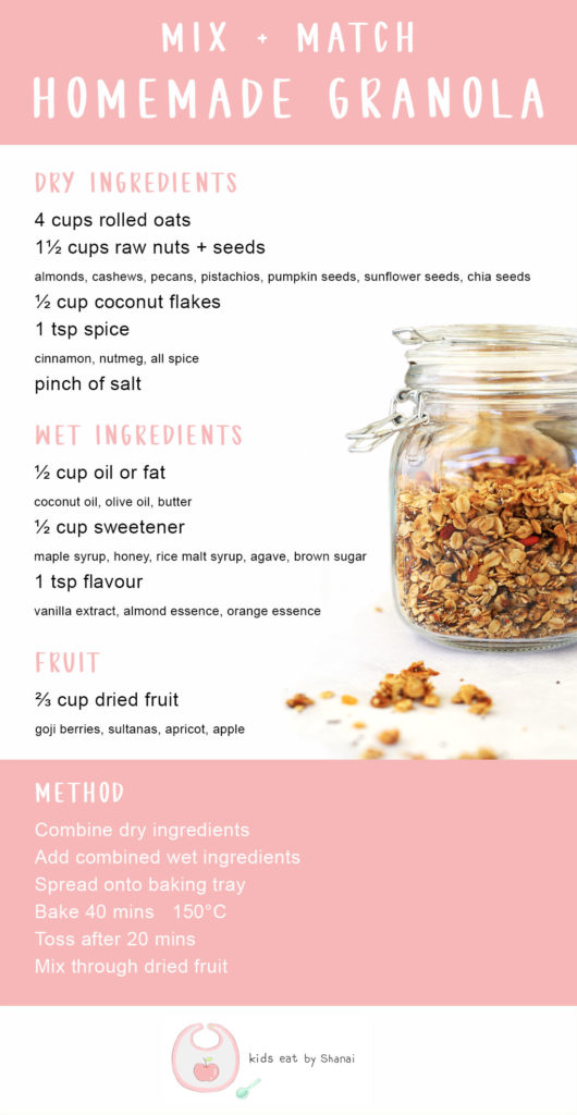 Homemade Granola - Mix & Match Your Own by Kids Eat by Shanai