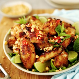 Chicken Wings with Hoisin Peanut Marinade