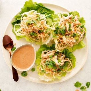 Hoisin Peanut Chicken Lettuce Wraps