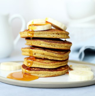 Gluten Free Pumpkin Buckwheat Pancakes | Kids Eat by Shanai