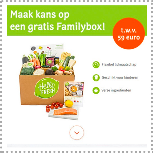 winactie hellofresh familybox