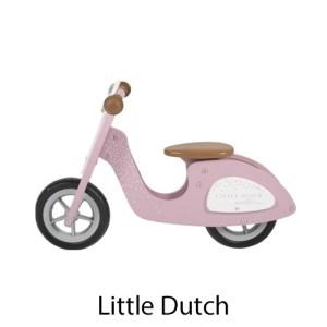 kidsenco Little Dutch houten scooter roze