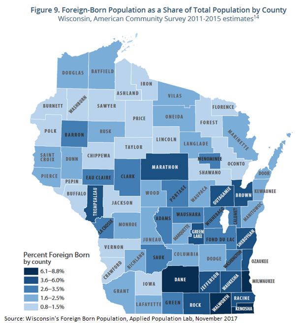 The Diversity Of Wisconsins Immigrant Experience Kids Forward - Map-of-immigrants-in-the-us
